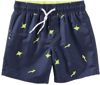Osh Kosh Oshkosh Bgosh Toddler Boy Printed Swim Shorts