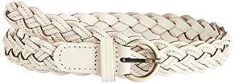 Silver Urbanism Women's All Match Bradid Leather Belt ()