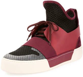Balenciaga Men's Multi-Material High-Top Trainer Sneaker $595 thestylecure.com