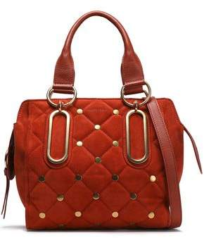 See by Chloe Studded Quilted Suede Shoulder Bag