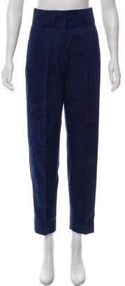 Saint Laurent High-Rise Logo Brocade Pants