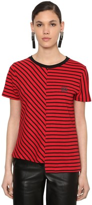 Loewe STRIPED COTTON KNIT T-SHIRT
