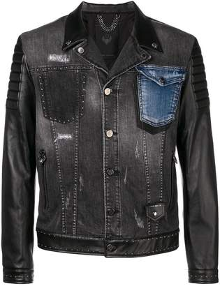 Frankie Morello panelled denim jacket