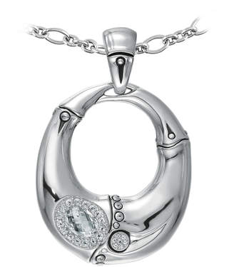 John Hardy Bamboo Gemstone Pendant Necklace, White