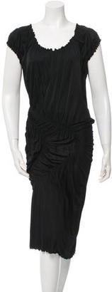 Jean Paul Gaultier Rushed Scalloped Dress $95 thestylecure.com