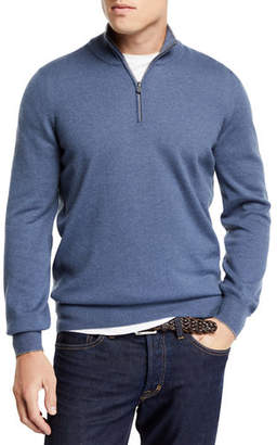 Brunello Cucinelli Men's Cashmere Half-Zip Pullover Sweater