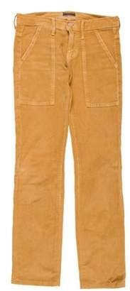 Mother Corduroy Low-Rise Straight-Leg Pants brown Corduroy Low-Rise Straight-Leg Pants