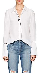 Frame Women's Silk Crêpe De Chine Blouse - White