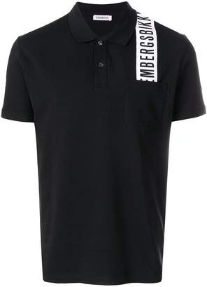 Dirk Bikkembergs logo patch polo top
