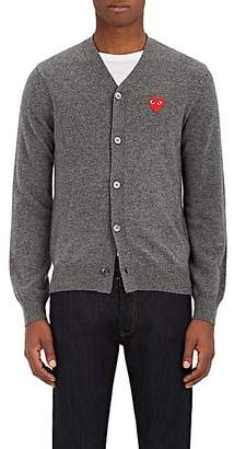 Comme des Garcons Men's Heart Wool Cardigan - Gray