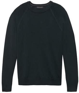 Banana Republic Extra-Fine Italian Merino Wool Crew-Neck Raglan Sweater