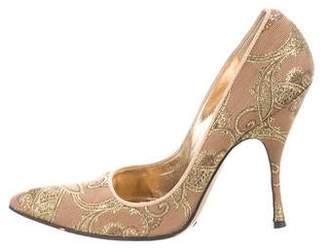 Dolce & Gabbana Brocade Pointed-Toe Pumps