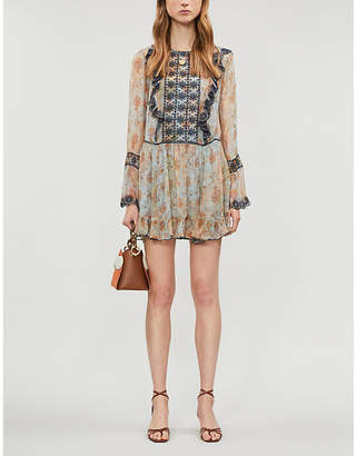 Free People Country Roads crepe mini dress