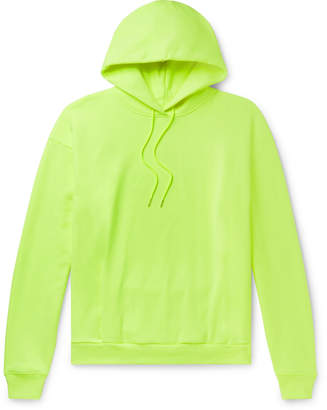 Martine Rose Fleece-Back Cotton-Jersey Hoodie - Men - Yellow