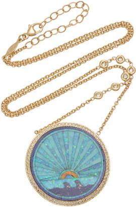 Jacquie Aiche Sunshine Opal Rainbow Necklace