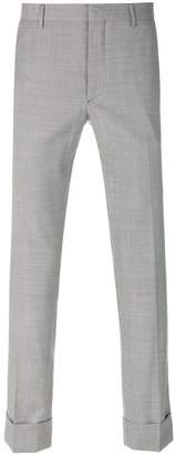 Prada patterned cropped trousers