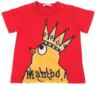 Dolce & Gabbana Mambo Chick Print Cotton Jersey T-Shirt