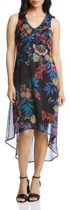 Karen Kane Sleeveless Floral-Print High/Low Dress