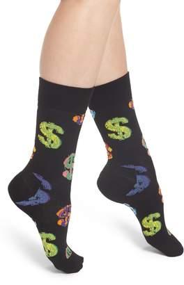 Happy Socks Andy Warhol Dollar Crew Socks