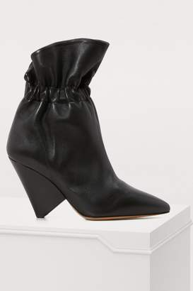 Isabel Marant Leather Lileas boots with heels