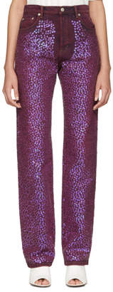 Acne Studios Pink Sequinned Tisi Jeans
