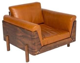 Jorge Zalszupin Leather & Rosewood Armchair