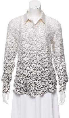 Band Of Outsiders Silk Printed Top