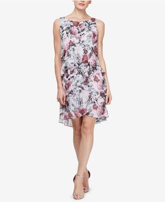 2be015e44e9 Tiered Chiffon Plus Size Short Sheath With Beading David S Bridal. Sl  Fashions Fl Tiered Chiffon Dress. S L Fashions Dress Style
