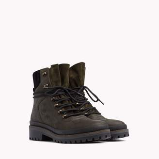 Tommy Hilfiger Leather Camo Hiker Boot