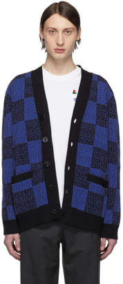 Opening Ceremony Blue and Black Jacquard Pattern Cardigan