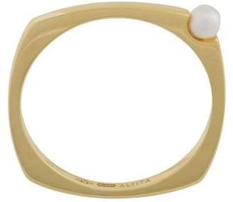 ALIITA 9kt gold pearl detail ring