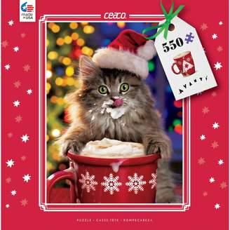 Ceaco 550-Piece Holiday Kitty Coffee Mug Jigsaw Puzzle
