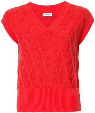 Coohem argyle knit pullover