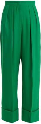 Sara Battaglia Wide-leg crepe trousers