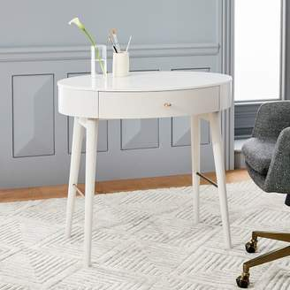 west elm Penelope Mini Desk - Oyster w/ Marble Top