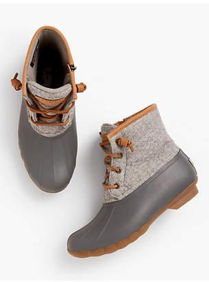 Talbots Sperry Saltwater Wool-Emboss Rubber Boots