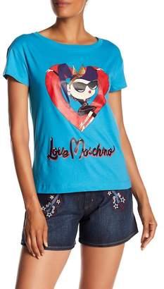 Love Moschino Stampa Donnina Tee