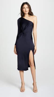 Cushnie et Ochs One Shoulder LS Dress with Twist Detail
