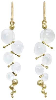 Rachel Atherley Small Moonstone Caviar Drop Earrings
