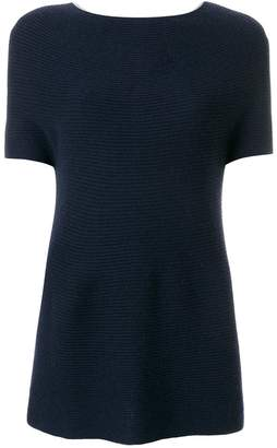 N.Peal cashmere boxy knit poncho