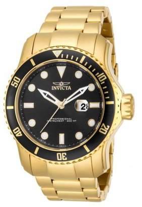Invicta Men's 15351 Pro Diver Quartz 3 Hand Black Dial Watch