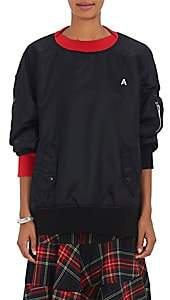 Ambush Women's Pullover Bomber Jacket - Black