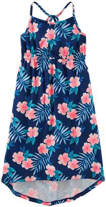 Osh Kosh Oshkosh Bgosh Girls' 4-12 Print High-Low Hem Midi Dress