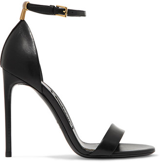 TOM FORD - Leather Sandals - Black $840 thestylecure.com