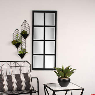 Laurèl Kate and Stryker Windowpane Framed Wall Mirror