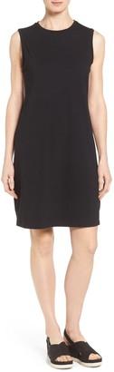 Eileen Fisher Stretch Organic Cotton Knee Length Tank Dress