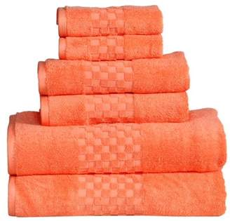 Hotel Collection Feather & Stitch Luxury Towel Sets Luxury 100% Cotton 6-Piece Towel Set, 650 GSM Hotel Collection, Super Soft and Highly Absorbent (Multicolor, 6 Pack Set)