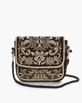 Chico's Chicos Embroidered Crossbody Bag