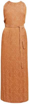 UNDRESS - Ilunga Brown Serpent Print Criss Cross Back Maxi Dress