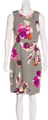 Trina Turk Floral Print Sleeveless Knee-Length Dress
